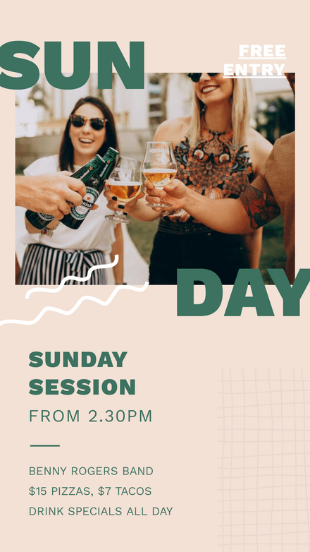 Sunday Session Venue Graphic Template