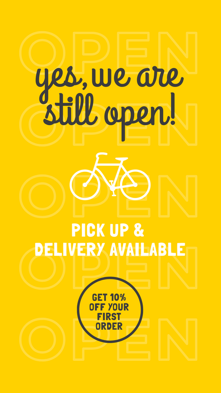 We Are Open: Delivery Offer