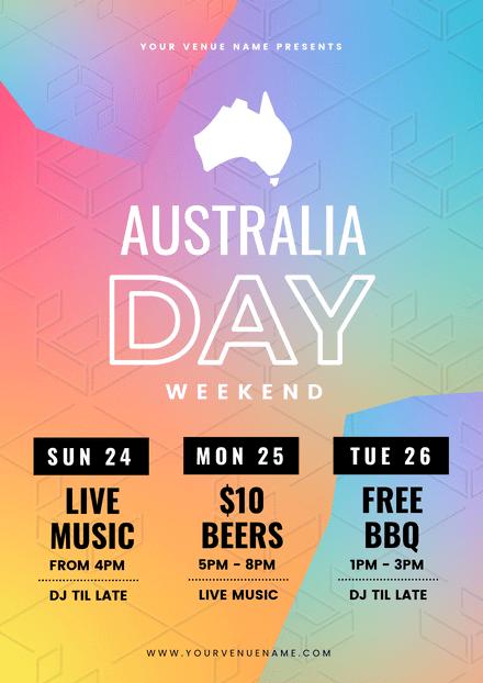 Australia Day Weekend Rainbow Gradients