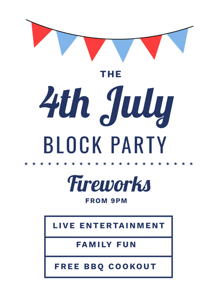 4th of july block party template