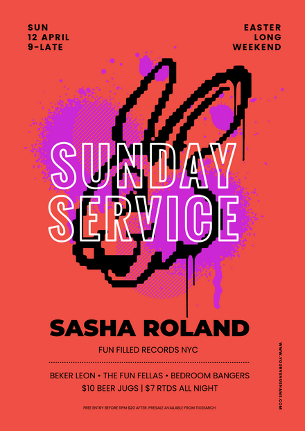 Easter Sunday Service Bunny Template