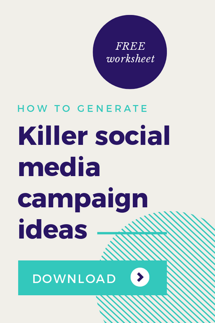 How to Generate Killer Social Media Campaign Ideas Graphic Template