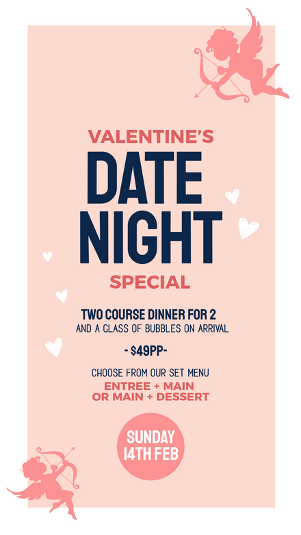 Valentines Day Cupid Date Night Template