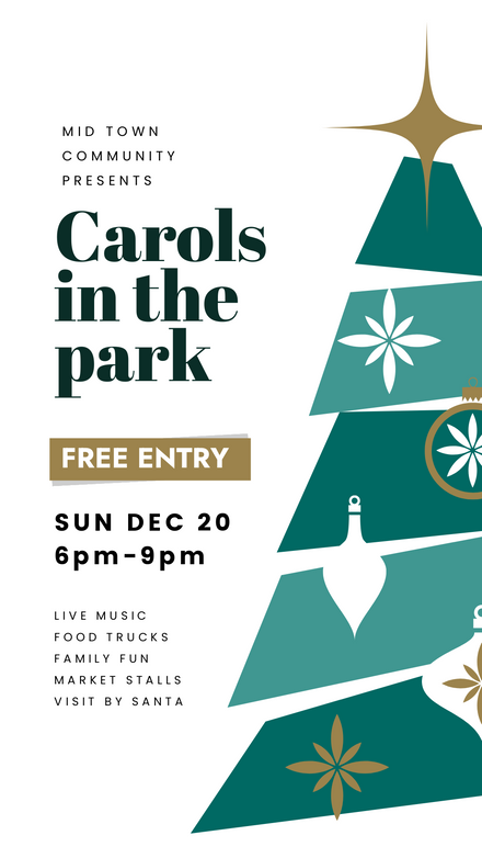 Christmas Carols in the Park Template