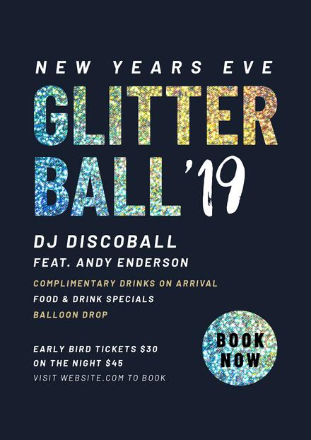 New Years Eve Glitter Ball