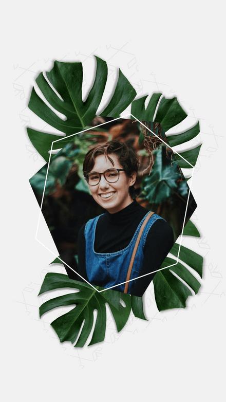 Image Frame: Geometric Leaf