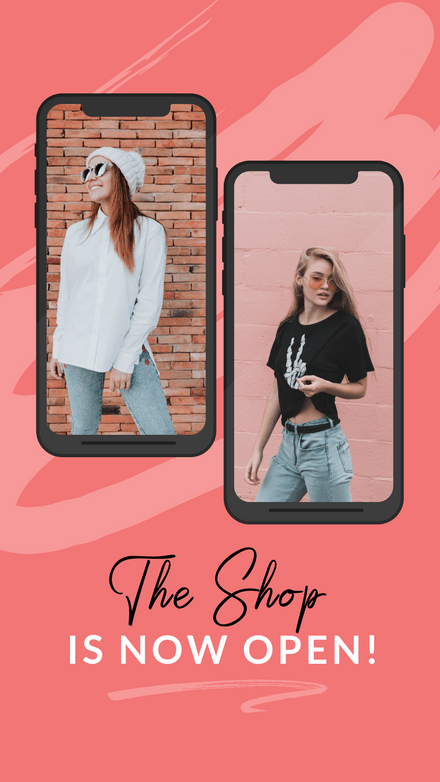 Double Phone Frame Retail Graphic Template