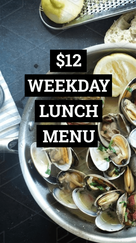 $12 Weekday Lunch Menu Graphic Template