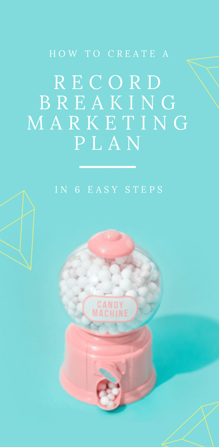 How to Create a Record Breaking Marketing Plan - Blog Promotion Graphic Template