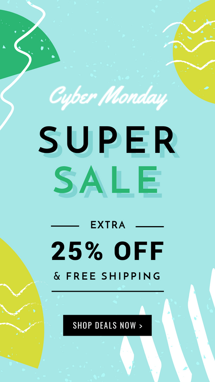 Cyber Monday Summer Theme Graphic Template
