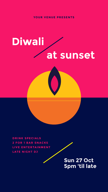 Diwali at Sunset Template