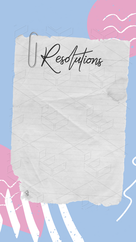 New Years Resolutions Template - Torn Paper