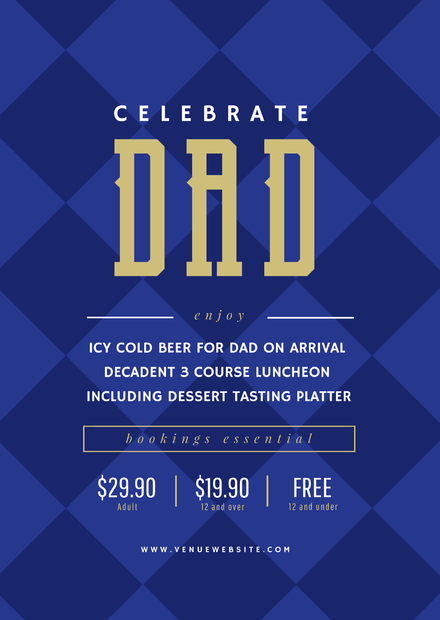 Celebrate Dad Diamond Pattern Father's Day Template
