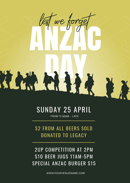 Anzac Day Soldiers Gradient