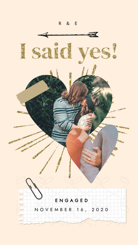 Collage: Glitter Engagement Announcement