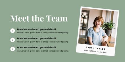 Meet the Team Q&A Template