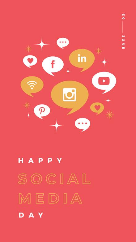 Happy Social Media Day - Icons