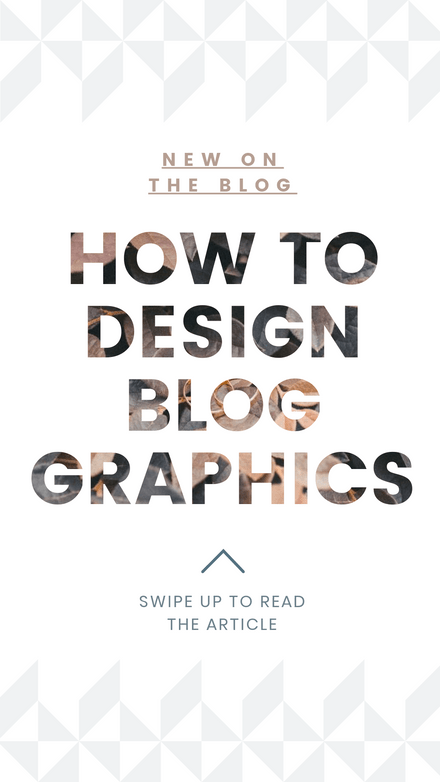 How to Design Blog Graphics - Template with masked text