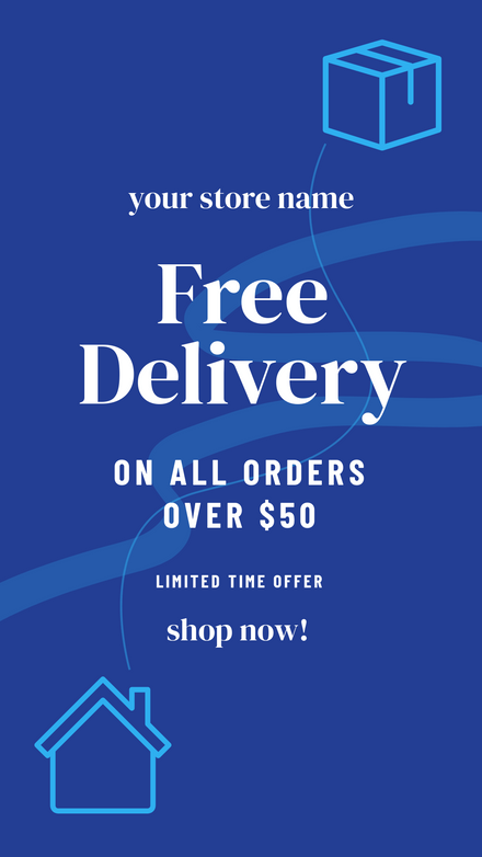 Free Delivery Offer: Blue Squiggle