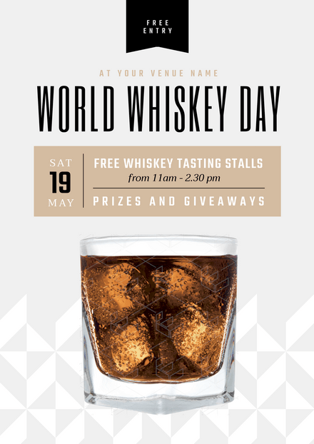 World Whiskey Day 19 May Template