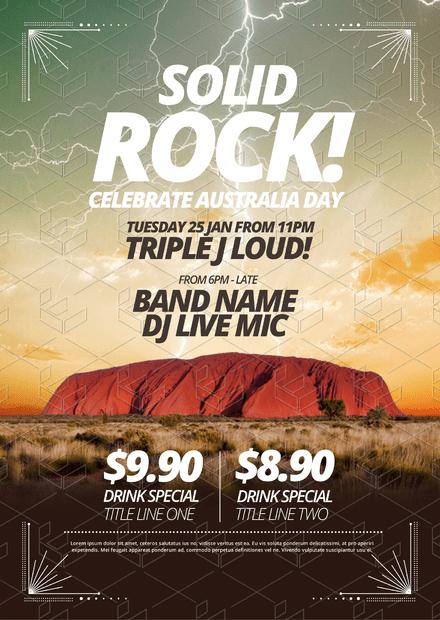 Solid Rock! Celebrate Australia Day Template