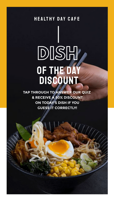 Dish of the Day Discount - Instagram Story Quiz Template