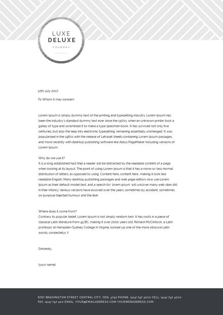 Weave Pattern Business Letterhead Template