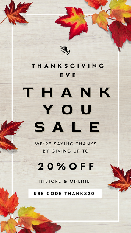 Thanksgiving Thank you sale with Leaf Frame