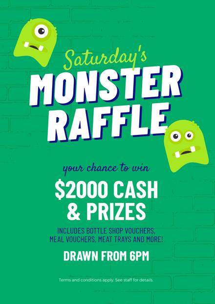 Monster Raffle Prizes - Green Monster Theme
