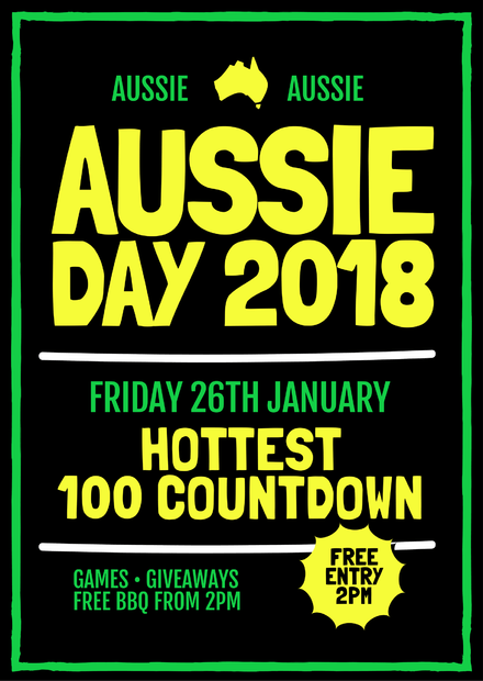australia day 2018 event template