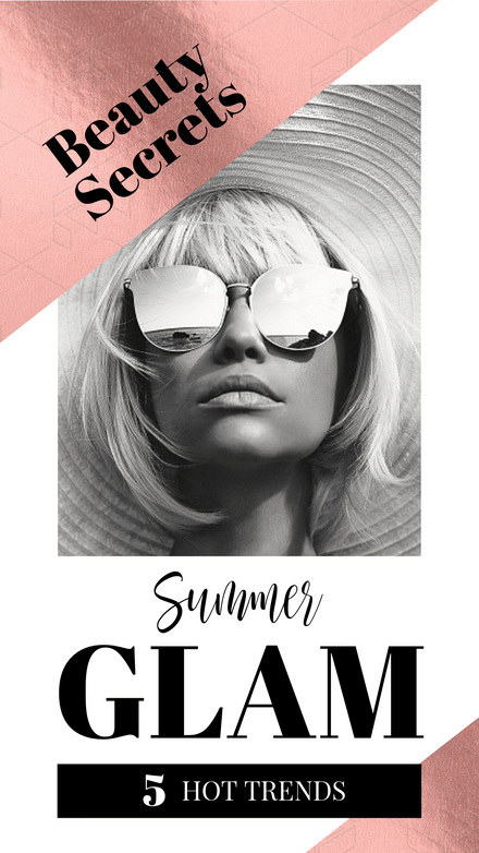 Summer Glam Rose Gold Template