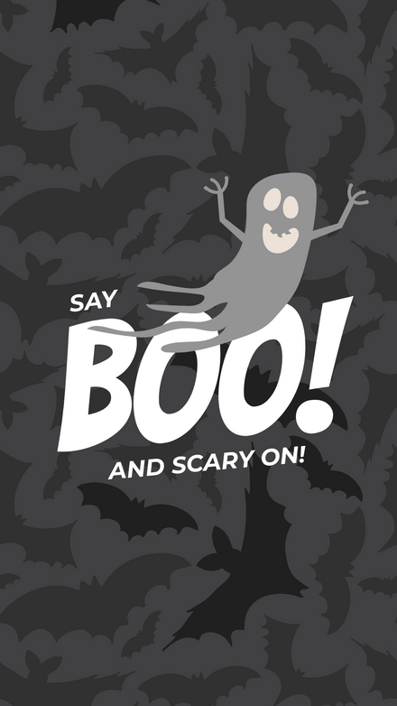 Say Boo & Scary on Halloween Post