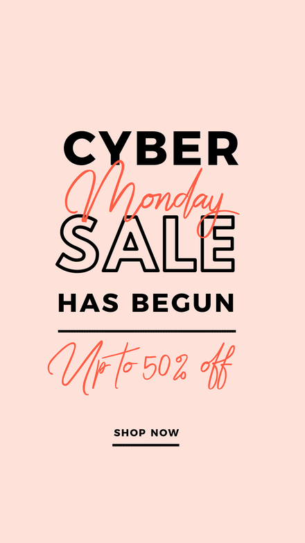 Cyber Monday Sale Peach & Black Graphic Template