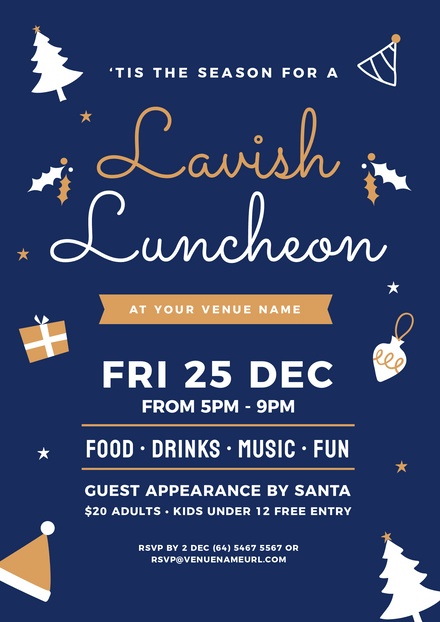 Lavish Luncheon Christmas Graphic Template