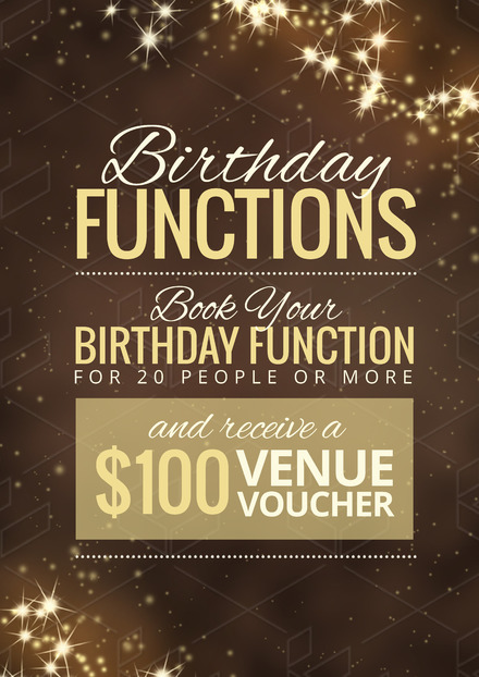 Birthday function Promotion Template with sparkling lights