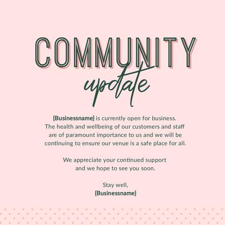Community Update Pink & Green Template