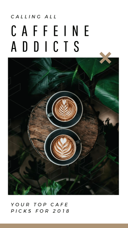 Best Cafes Instagram Story with 5 Pages