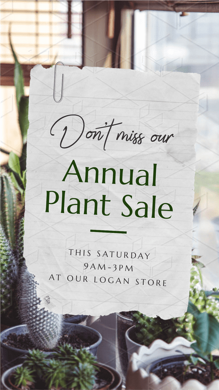 Annual Plant Sale - Torn Paper Design