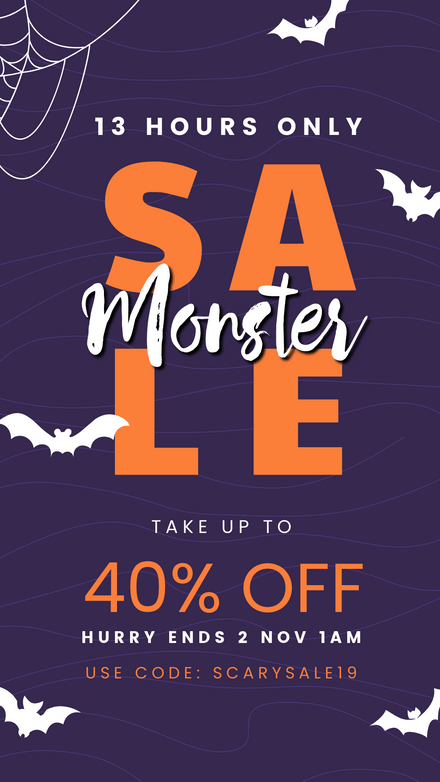 Monster Sale - Halloween Theme Graphic Template