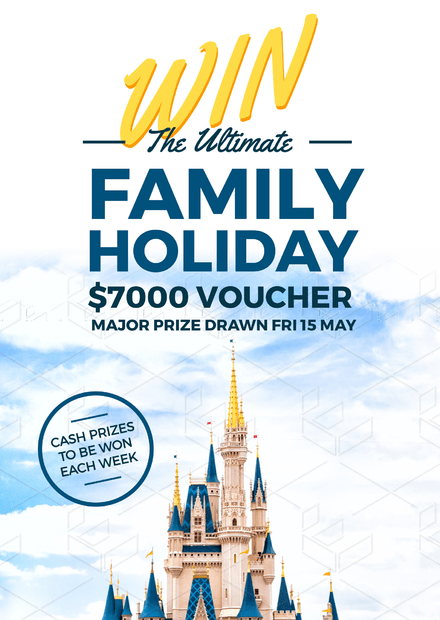 win the ultimate family holiday promotion design
