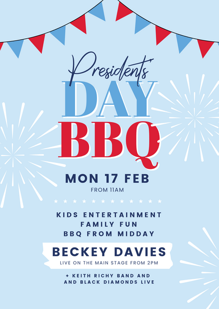 President's Day BBQ Template