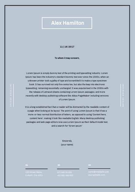 Light Blue & White Business Letterhead Template