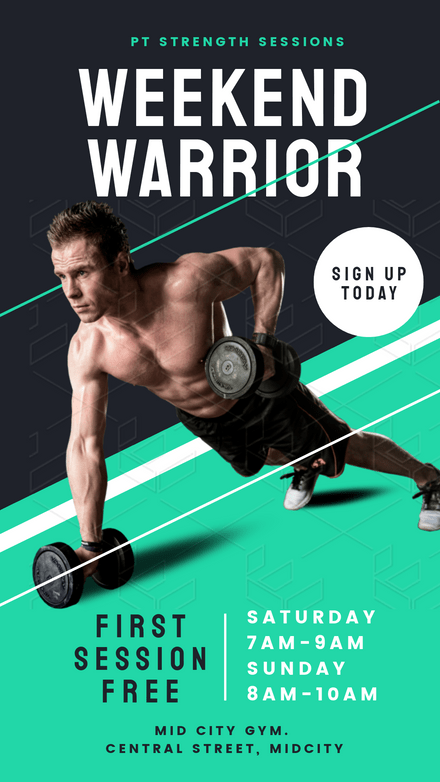 Weekend Warrior - Trainer Graphic Template