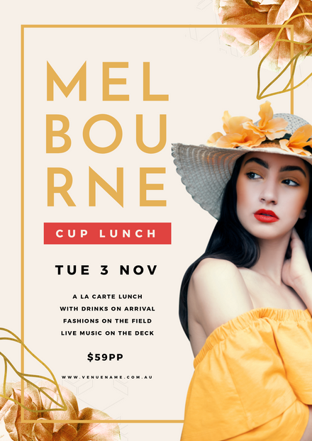 Melbourne Cup Gold & Red Theme Template