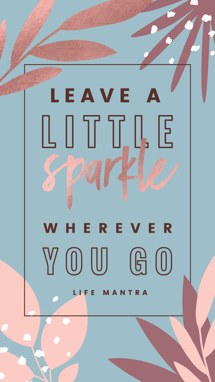 Leave a Little Sparkle, Wherever you Go - Graphic Template