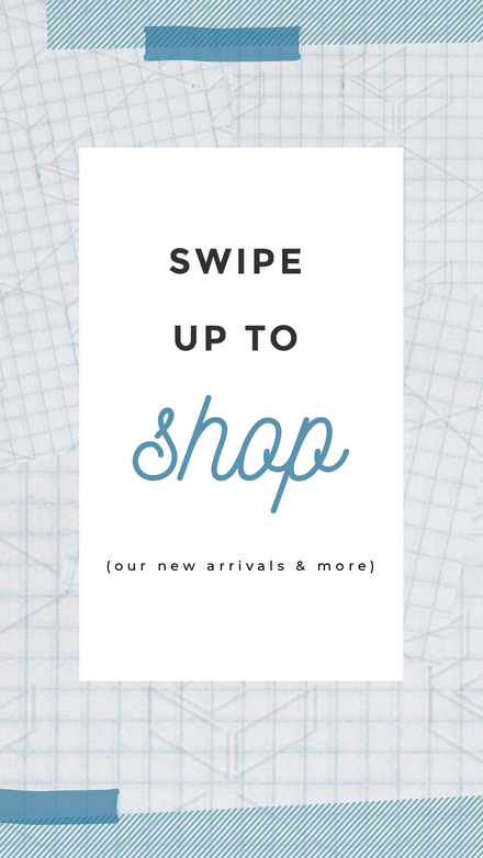 Swipe Up to Shop -Blue Graphic Template