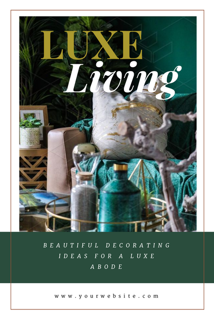 Luxe Living - Green & Gold Template