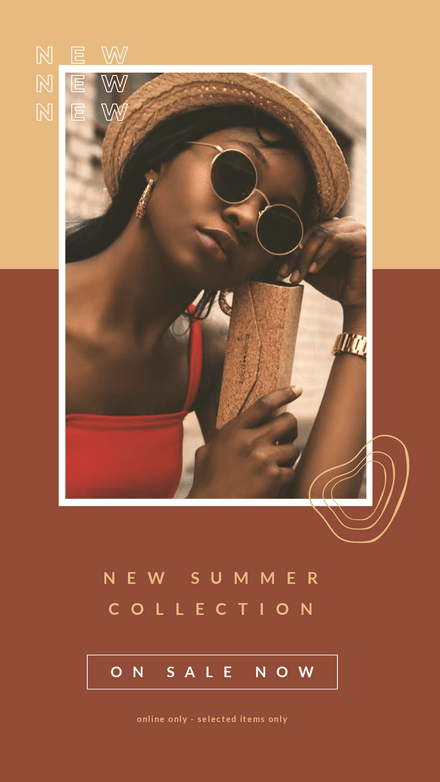 Split Single Image With Background Text - Summer Collection
