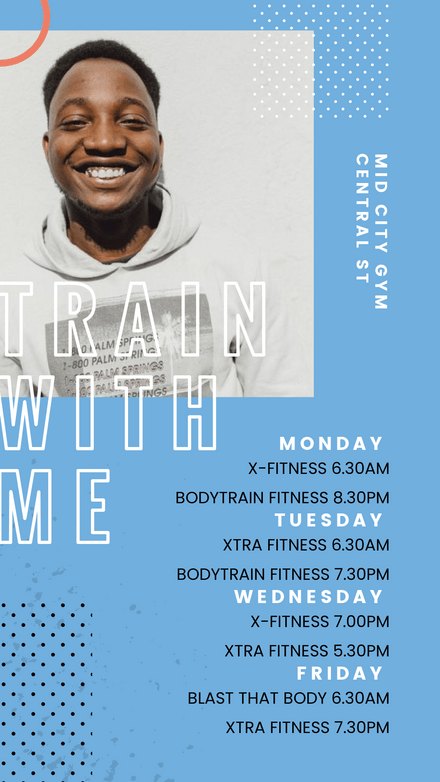 Personal Trainer Class Timetable Template