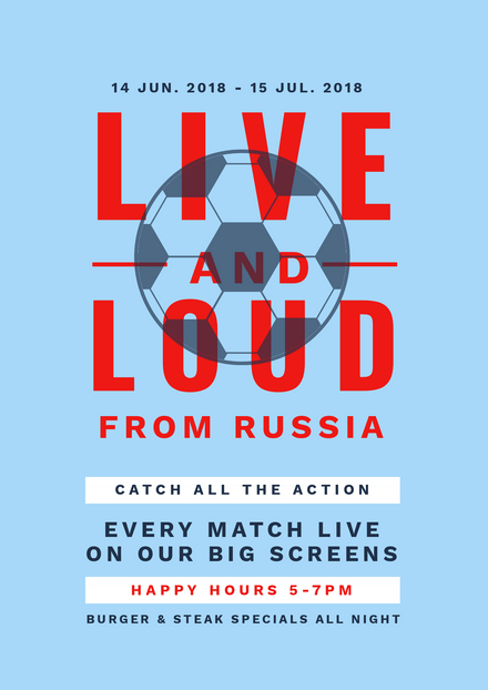 Live & Loud from Russia Soccer Promotion Template